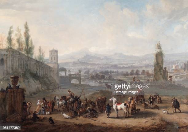 The Return from the Chase' circirca 1650s Painting in Apsley House London Part of the Spanish Royal Collection captured by the Duke of Wellington at...