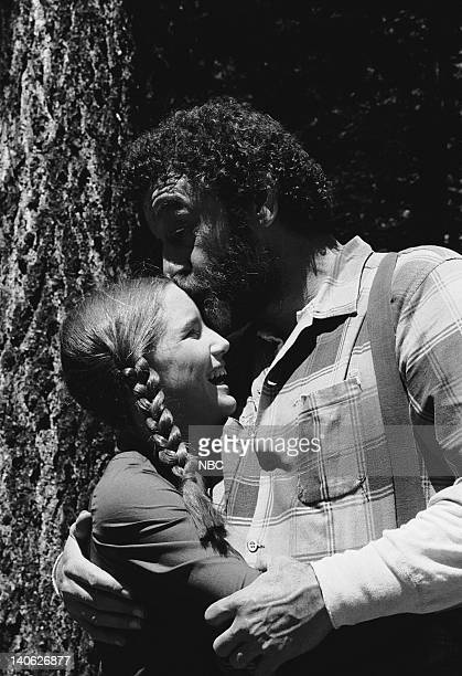 PRAIRIE 'The Return of Mr Edwards' Episode 8 Aired 11/05/79 Pictured Melissa Gilbert as Laura Elizabeth Ingalls Victor French as Mr Isaiah Edwards...