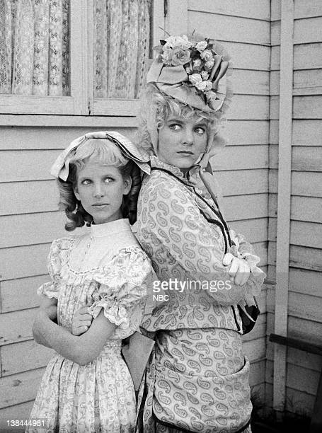PRAIRIE 'The Return of Nellie' Episode 8 Aired 11/15/82 Pictured Allison Balson as Nancy Oleson Allison Arngrim as Nellie Oleson Dalton