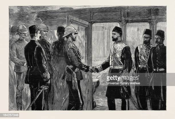 The Return Of The Duke Of Connaught The Khedive Taking Leave Of His Royal Highness At The Cairo Railway Station Egypt