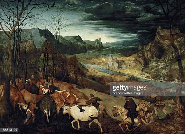 The Return of the Herd From the series of six paintings The Seasons Oil on wood Size 117 x 159 cm Cat 52 Inv 1018 [Die Rueckkehr der Herde Aus der...