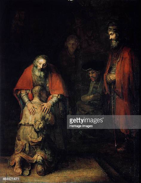 'The Return of the Prodigal Son' c1668 Rembrandt van Rhijn Found in the collection of the State Hermitage St Petersburg