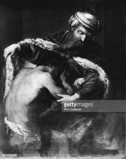 The Return of the Prodigal Son' Painting held at the Kunsthistorisches Museum Vienna From Bibby's Annual 1911 [J Bibby Sons Liverpool 1911] Artist...