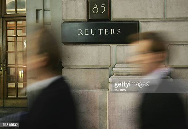 The Reuters offices are seen in the Fleet Street on December 2, 2004 in London. Reuters journalists in Britain are considering a strike in protest at...