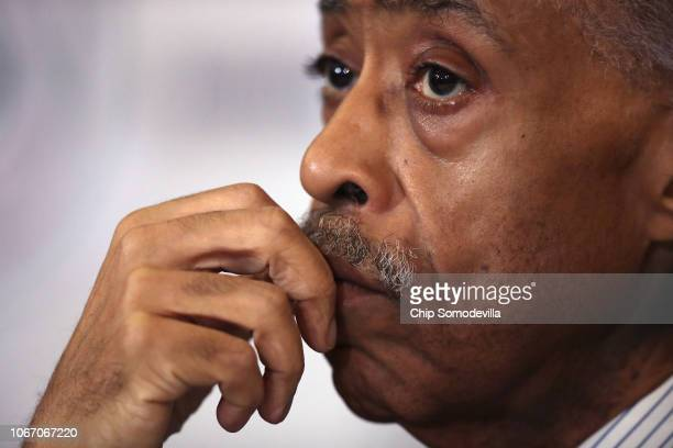 The Rev Al Sharpton attends his National Action Network's postmidterm election meeting in the Kennedy Caucus Room at the Russell Senate Office...