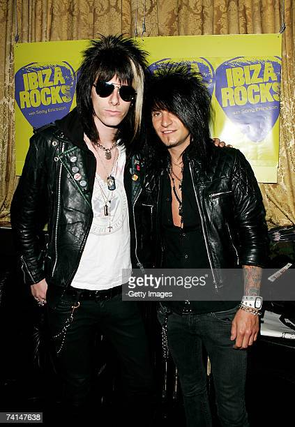 The Rev and Snail of Towers of London arrive at the Ibiza Rocks with Sony Ericsson launch party at The Lock Tavern Camden on May 14 2007 in London...