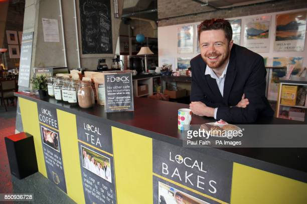 The Rev Chris Bennett in the Dock cafe in the Belfast Titanic quarter which operates an honesty box payment scheme