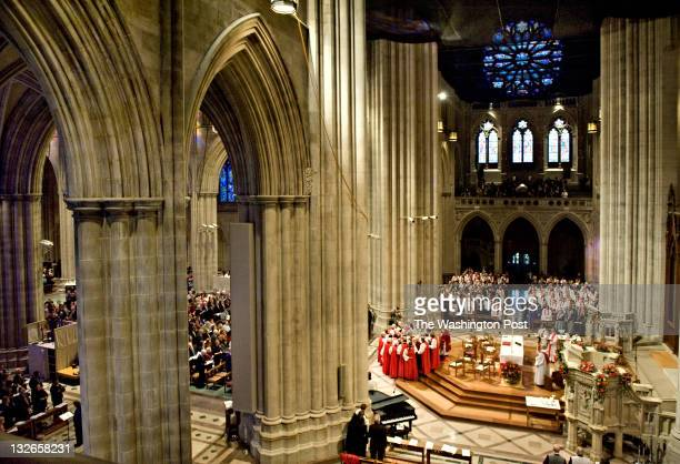 The Rev Dr Bishop Mariann Edgar Budde is consecrated at the Washington National Cathedral in Washington DC on Saturday November 12 2011 Bishop...