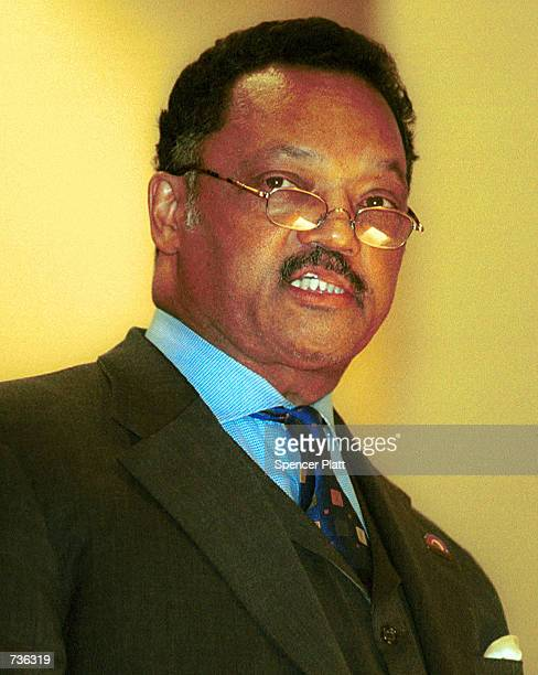 The Rev Jesse Jackson speaks during a prayer vigil for Jackson and his family at the Caanan Baptist Church January 23 2001 in New York's Harlem...
