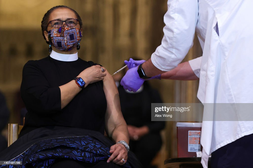 Dr. Fauci And NIH Director Collins Encourage Clergy To Get COVID-19 Vaccination : News Photo