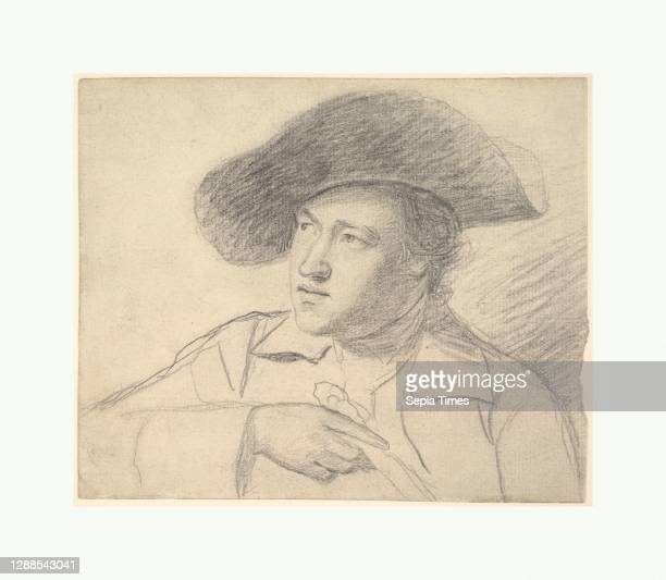 The Rev. William Atkinson, Wearing a Broad-Brimmed Hat, ca. 1760–62, Graphite, Sheet: 6 x 7 1/4 in. , Drawings, George Romney , When Romney lived in...