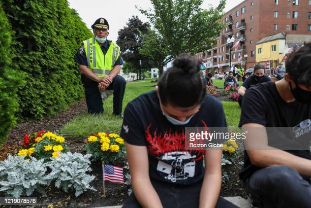 The Revere Chief of Police joined others in taking a knee in front of Revere City Hall for 8 minutes and 46 seconds, the amount of time time a...
