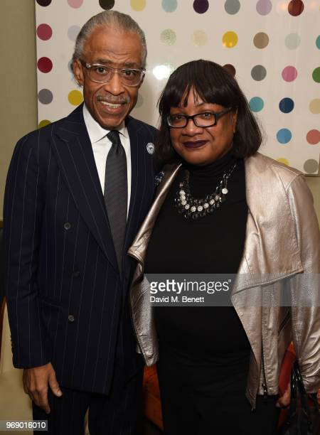 The Reverend Al Sharpton and Diane Abbott MP attend a dinner hosted by Simon Woolley of Operation Black Vote in honour of Reverend Al Sharpton at The...
