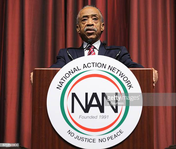The Reverend Al Sharpton speaks during the opening of the NAN 25th Anniversary National Convention at New York Sheraton Hotel Tower on April 13 2016...