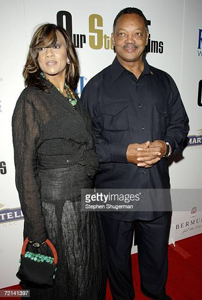 The Reverend Jessie Jackson and wife Jacqueline Lavinia Brown attend the launch party for Our Stories Films at Social on October 10 2006 in Hollywood...