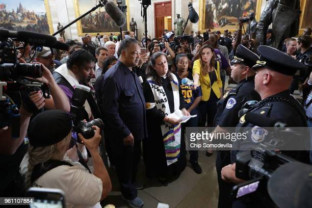 The Reverend Jesse Jackson The Reverend William Barber and fellow clergy and demonstrators attempt to deliver a letter to the House of...