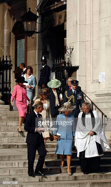 The Reverend Nick Holtam accompanies The Prince of Wales President of The Victoria Cross and George Cross Association and The Duchess of Cornwall...