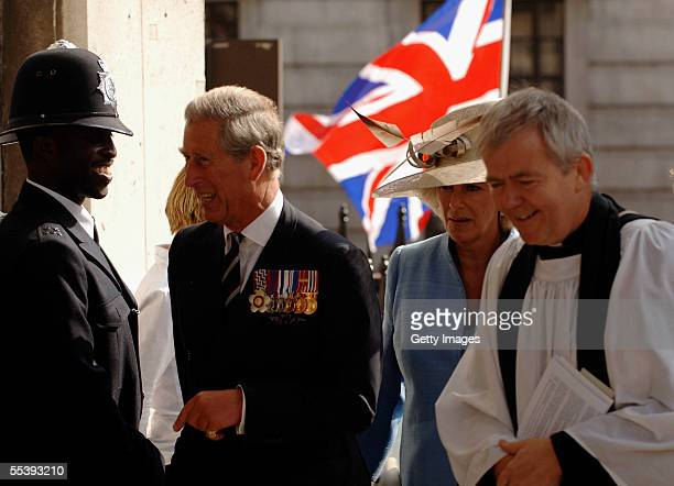 The Reverend Nick Holtam accompanies The Prince of Wales President of The Victoria Cross and George Cross Association and The Duchess of Cornwall to...