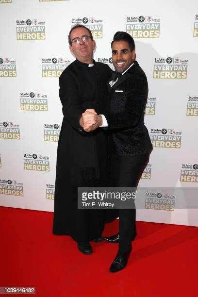 The Reverend Richard Coles and Dr Ranj Singh attend the St John Ambulance Everyday Heroes Awards supported by Laerdal Medical which celebrate those...