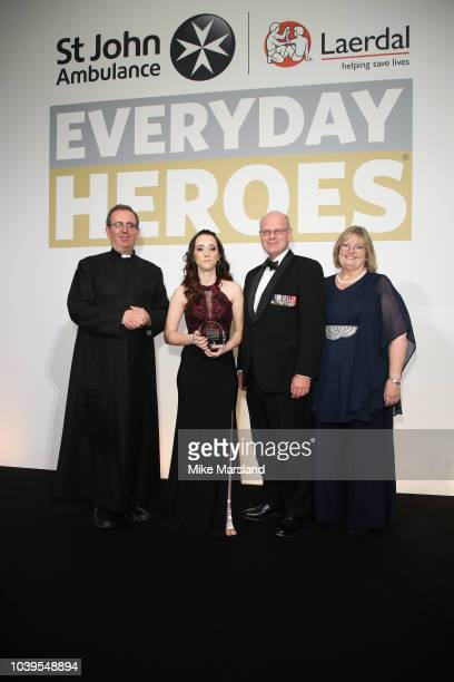 The Reverend Richard Coles Courtney Powdrill Martin Bricknell and Beth ChesneyEvans attend the St John Ambulance Everyday Heroes Awards supported by...