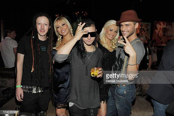 The Reverend Tanya Popovich Skrillex Holly Madison and Josh Strickland celebrate the 4th anniversary of Blush Boutique Nightclub at Wynn Las Vegas on...