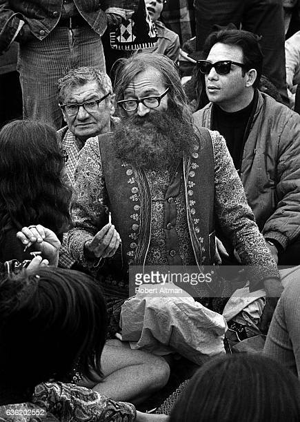 The Reverend Wilbur Leo Minzey of The Shiva Fellowship Church Earth Faire passes around a joint on April 16 1969 at Golden Gate Park in San Francisco...