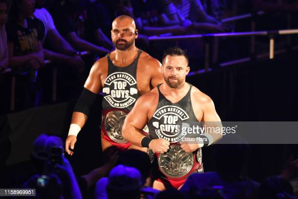 The Revival,Dash Wilder and Scott Dawson enter the ring during the WWE Live Tokyo at Ryogoku Kokugikan on June 28, 2019 in Tokyo, Japan.