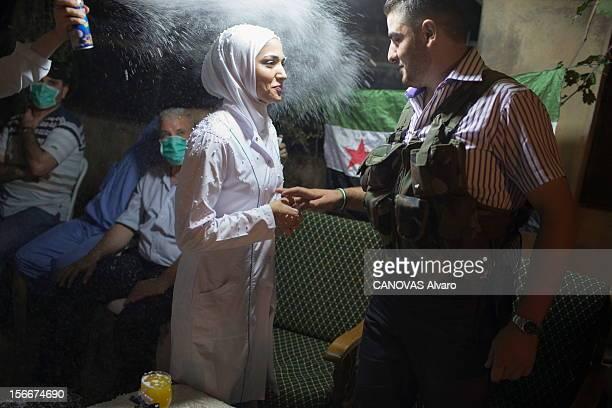 The Revolt In Syria The Battle Aleppo Révolte en Syrie contre le président Bachar ElAssad la bataille d'Alep août 2012 Les reporters de 'Paris Match'...