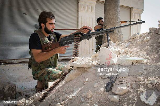 The Revolt In Syria: The Battle Aleppo. Révolte en Syrie contre le président Bachar El-Assad : la bataille d'Alep, août 2012. Les reporters de 'Paris...