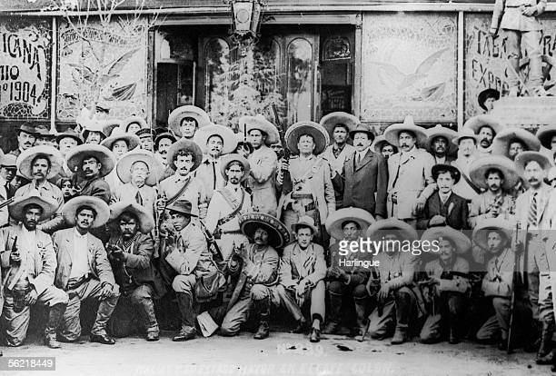 The revolution in Mexico The general Macias and his staff 1911