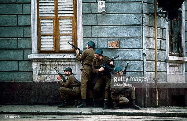 The Revolution marked the end of the regime of Nicolae Ceausescu. Army. The uprising started in Timisoara, after military defection, soldiers are...