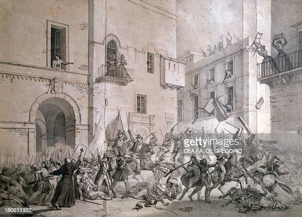 The revolution of Palermo April 4 1848 Unification era Italy 19th century