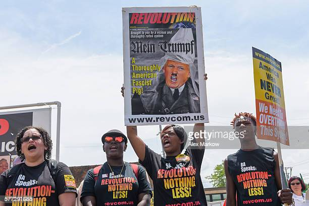 The Revolutionary Communist Party joined the End Poverty Now! rally before marching downtown to RNC on July 18, 2016 in Cleveland, Ohio.