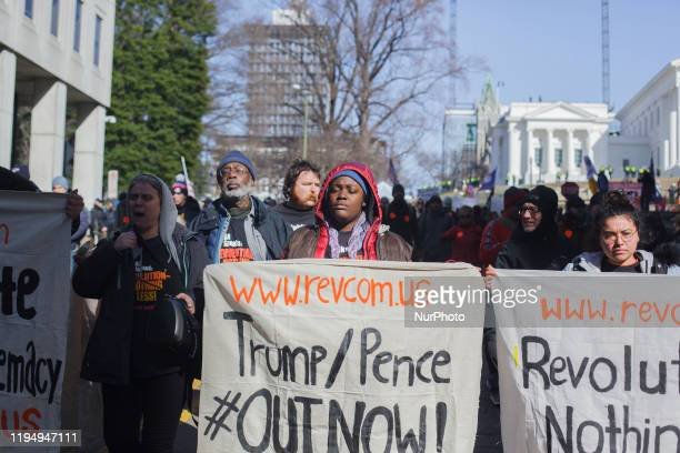 The Revolutionary Communist Party were the only counterprotesters in attendance during a rally organized by The Virginia Citizens Defense League on...