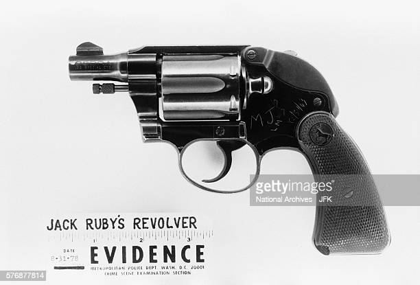 The revolver used by Jack Ruby to assassinate Lee Harvey Oswald during a press conference in Dallas following the assassination of President Kennedy...