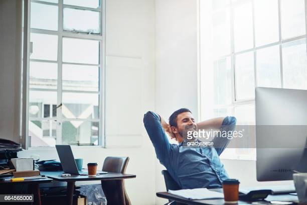 the rewards are in the results - man in office stock photos and pictures
