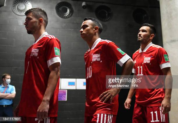 The RFU team prior to the FIFA Futsal World Cup 2021 group B match between Guatemala and Football Union Of Russia at Kaunas Arena on September 18,...
