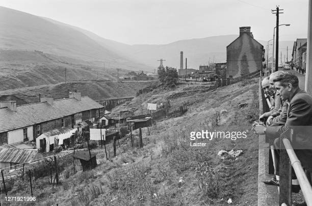 The Rhondda valley, a former coal mining area of South Wales, October 1965.