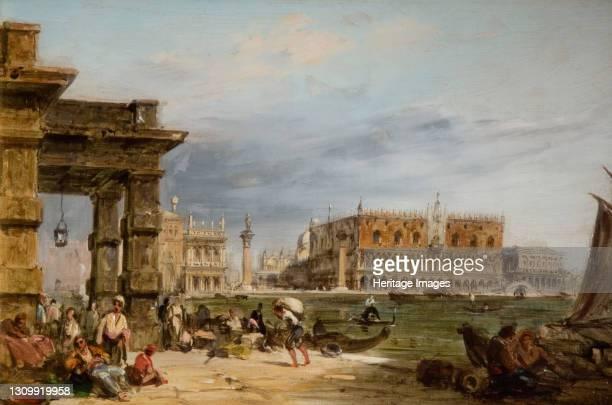 The Rialto, Venice, 1864. Artist Edward Pritchett. .