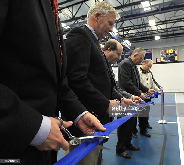 The Ribbon Cutting Ceremony at the Southeastern Regional Vocational Technical High School's school district's new gymnasium Participants in the...