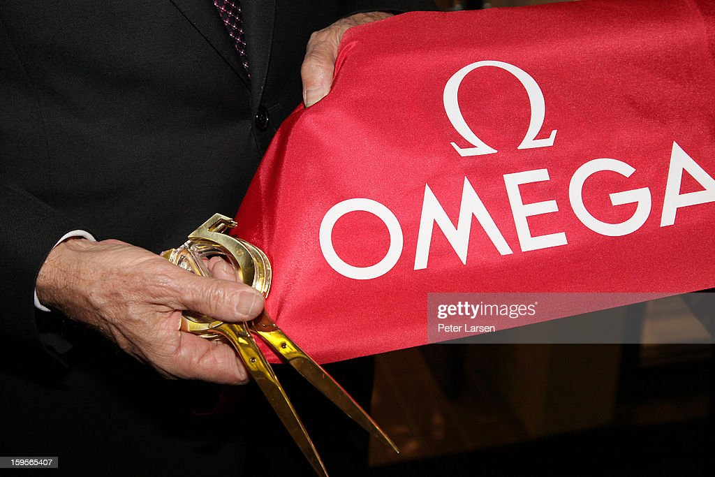 The ribbon cutting ceremony is completed at the Grand Opening of the Omega Boutique at NorthPark on January 15, 2013 in Dallas, Texas.
