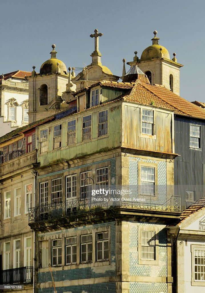 The Ribeira in Porto : Foto de stock