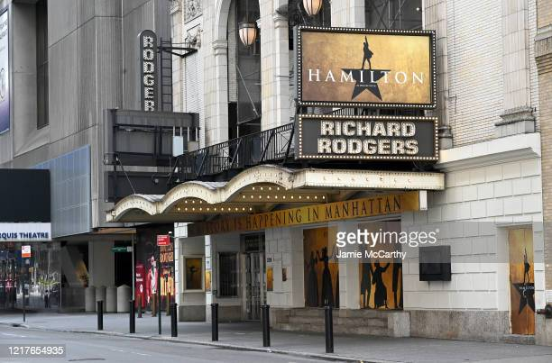 The Richard Rodgers Theater closed during the coronavirus pandemic on April 08, 2020 in New York City. The Broadway League announced today that...