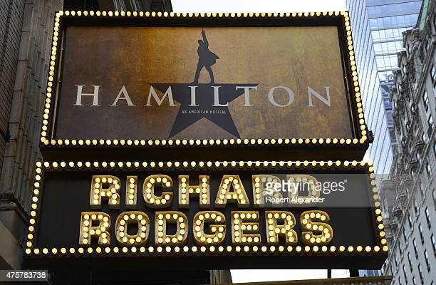 The Richard Rodgers Theatre on 46th Street in New York City is the site of the July 13 2015 Broadway theater premiere of the musical 'Hamilton' based...