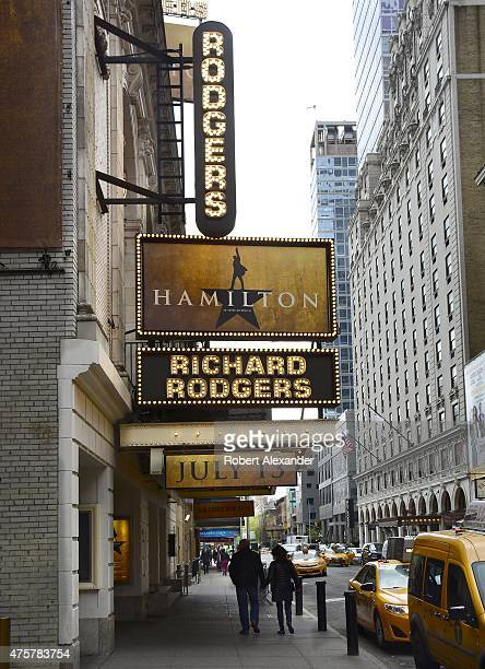 The Richard Rodgers Theatre on 46th Street in New York City is the site of the July 13 2015 Broadway theater premiere of the musical Hamilton' based...