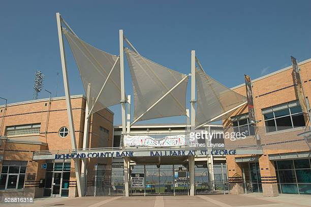 The Richmond County Bank Ballpark at St. George Station hosts a farm team for the New York Yankees.