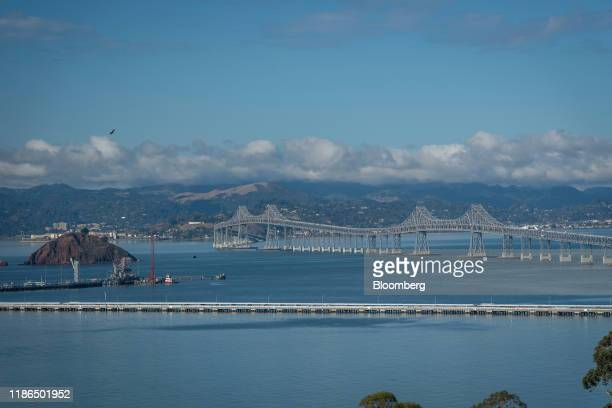 The Richmond-San Rafael Bridge stands in the San Francisco Bay as seen from Richmond, California, U.S., on Tuesday, Dec. 3, 2019. The city of...