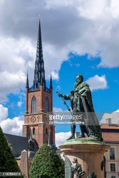 the riddarholm church, the burial church of the swedish monarchs, stockholm, sweden, scandinavia, europe - iglesia de riddarholmen fotografías e imágenes de stock
