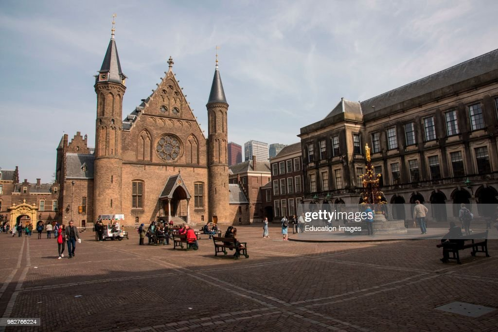 The Ridderzaal, Hall of Knights, courtyard of the Binnenhof, The Hague : News Photo