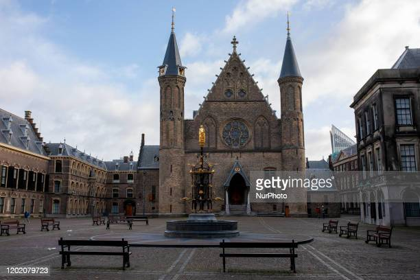 The Ridderzaal, the main building of the 13th-century inner square, in The Hague, Netherlands, on February 20, 2020. The Hague is a city on the North...